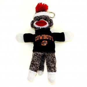 Oklahoma State University Cowboys Sock Monkey Keychain