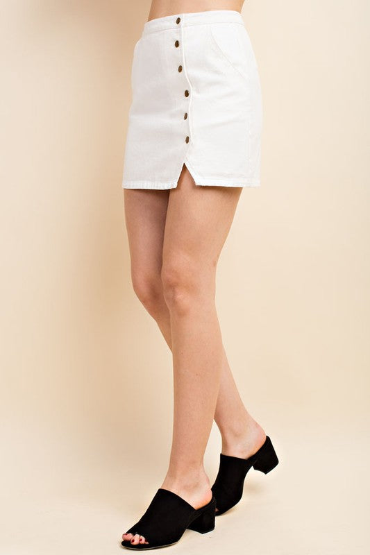 Blanca Button Up Mini Skirt