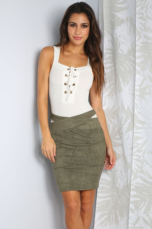 Love Suede Bodycon Skirt