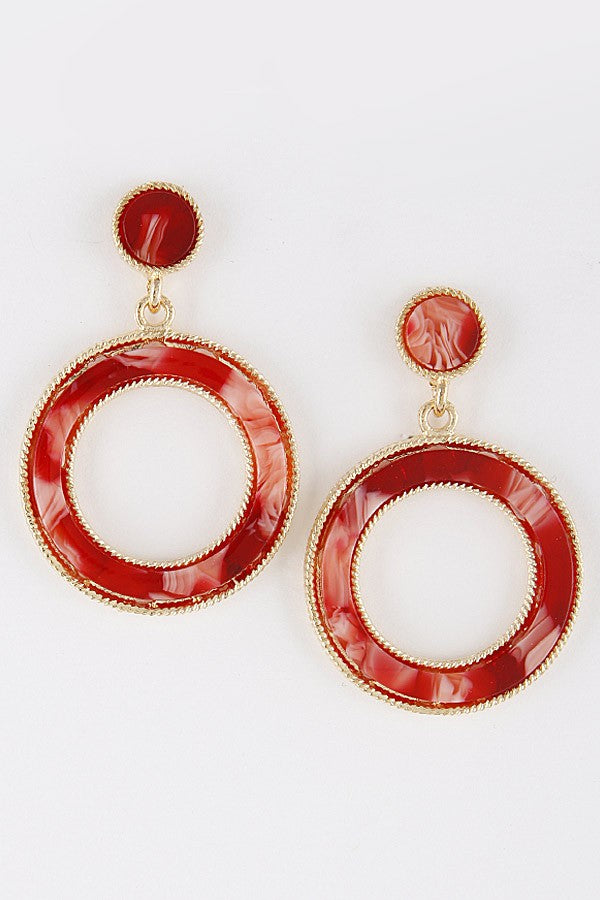 Liz Circle Earrings