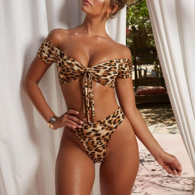 Into the Wild Leopard Two Piece Bikini Set (4786001445003)