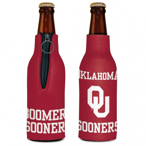 "OU ""Boomer Sooner"" Bottle Zipper Koozie"