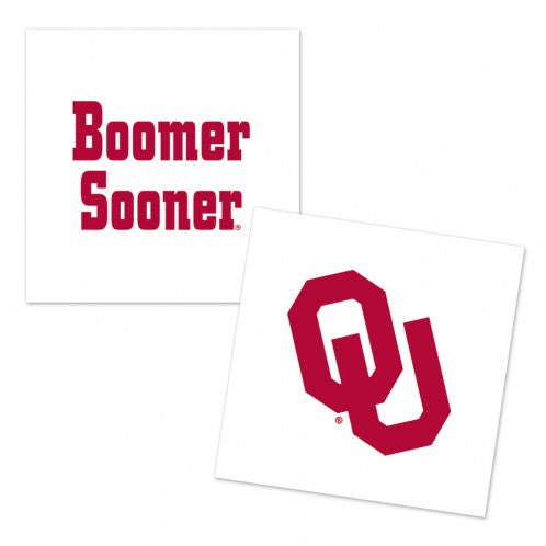 University of Oklahoma Boomer Sooner 4 Pack- Tattoo