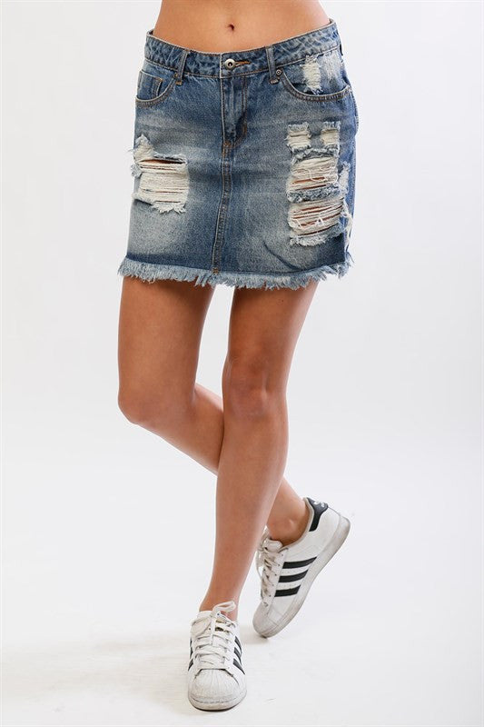 Cabo Denim Skirt (8476893840)