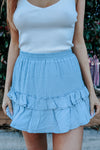 Cori Mini Skirt - blue