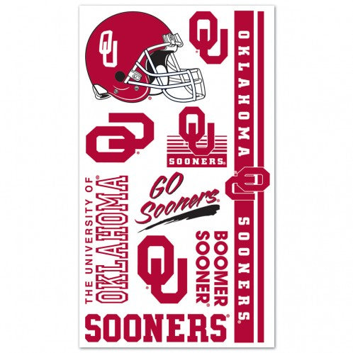 University of Oklahoma Large Sheet of Tattoos