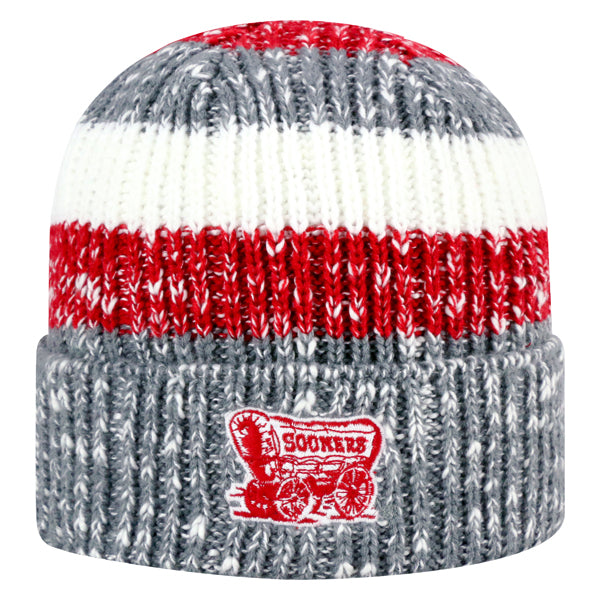 University of Oklahoma Sooners Wonderland II Striped Tricolor Knit Beanie