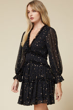 Plus One Star Dress - Black