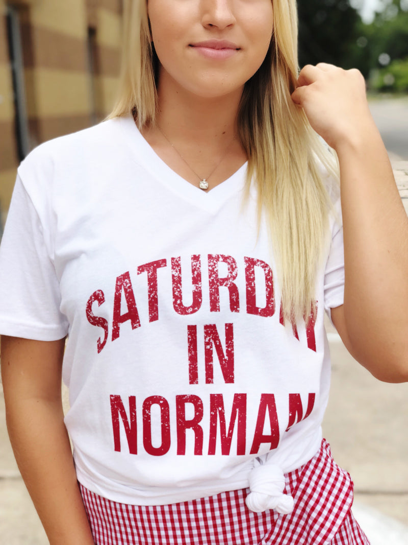 Saturday In Norman Tee (612888936508)