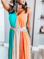 Noorulann Striped Maxi Dress