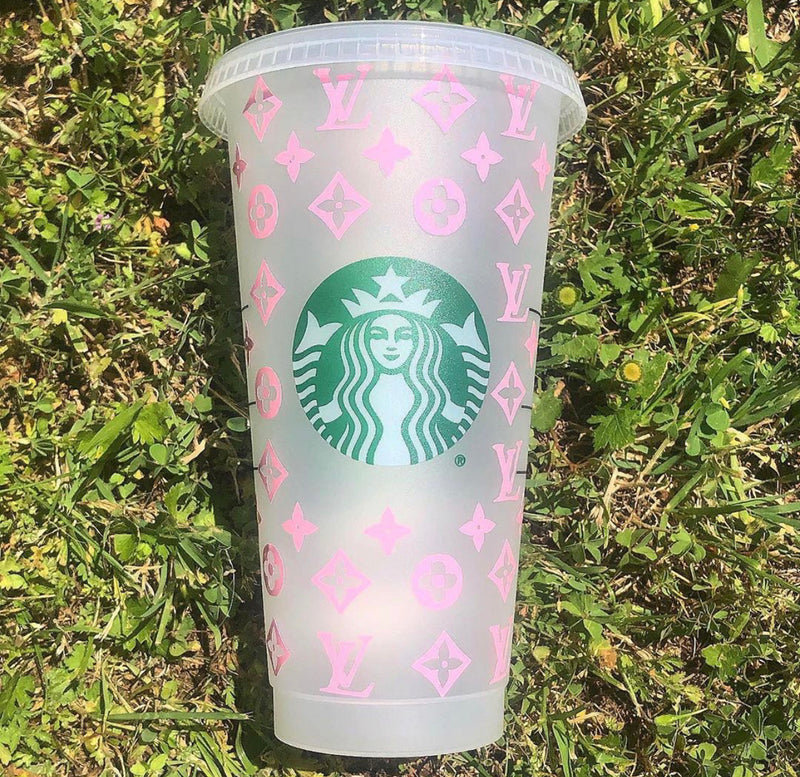 Reusable Cold Cup - LV Inspired