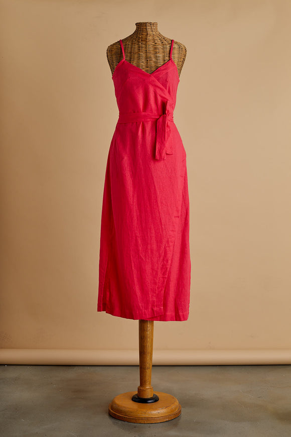 Hot Pink Wrap Dress