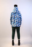Waterproof Raincoat Navy Blue Camouflage