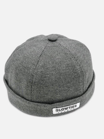 Light Grey Skull Cap Beanie