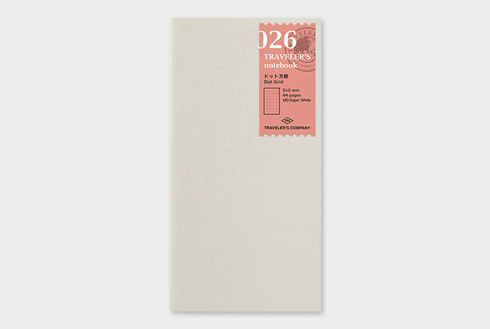 Traveler's - Dot Grid Notebook Refill - Reg. Size #026