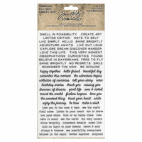 Tim Holtz® Idea-ology | Tiny Text Remnant Rubs