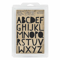 Tim Holtz® Idea-ology | Cutout Upper - Cling Foam Stamps