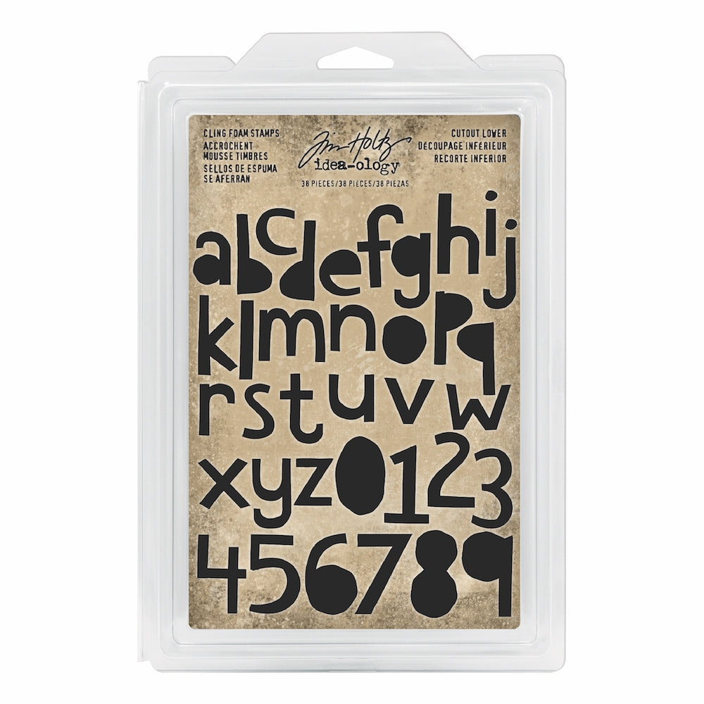 *NEW* Tim Holtz® Idea-ology | Cutout Lower - Cling Foam Stamps