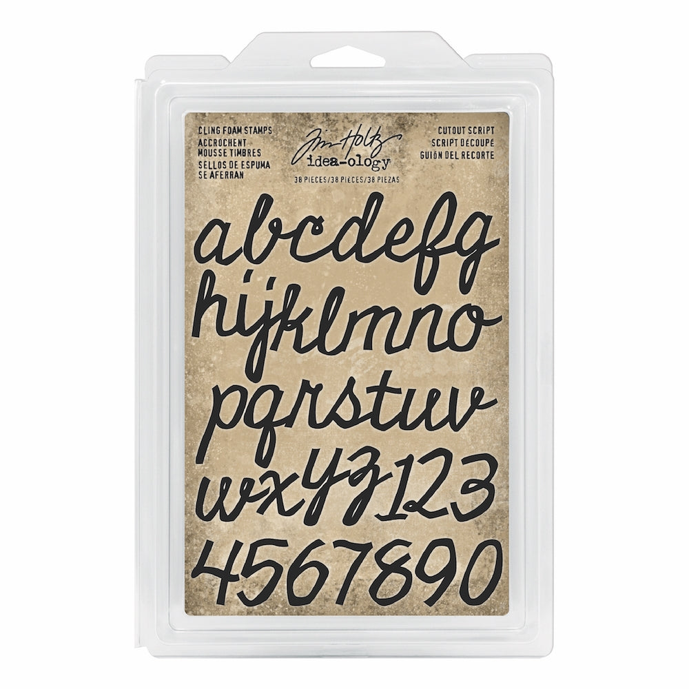 Tim Holtz® Idea-ology | Cutout Script - Cling Foam Stamps