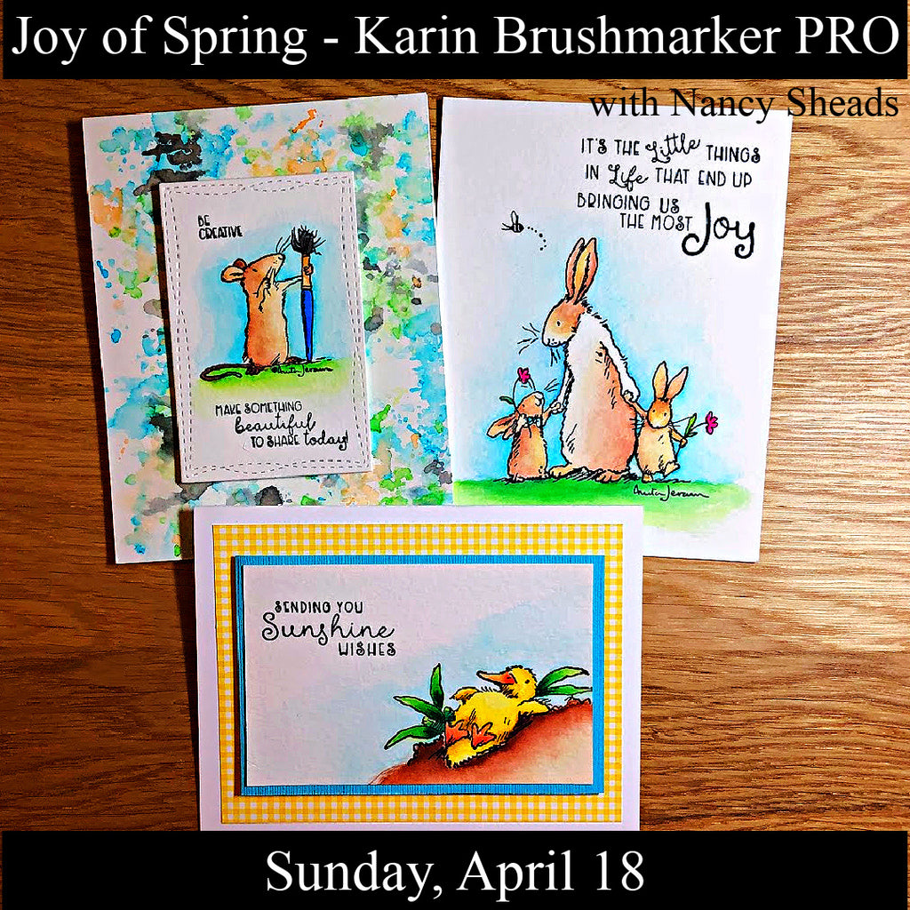 """Joy of Spring"" Cards with Nancy Sheads - Sunday, April 18th"