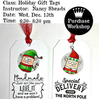Workshop | Holiday Gift Tags with Nancy Sheads