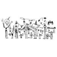 Gus Fink | GF7156M - Motley Crew - Rubber Art Stamp