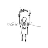 Gus Fink | GF7154F - Awesome - Rubber Art Stamp