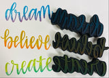 Gale Nation | Dream, Believe, Create | Foam Stamps - Set of 3