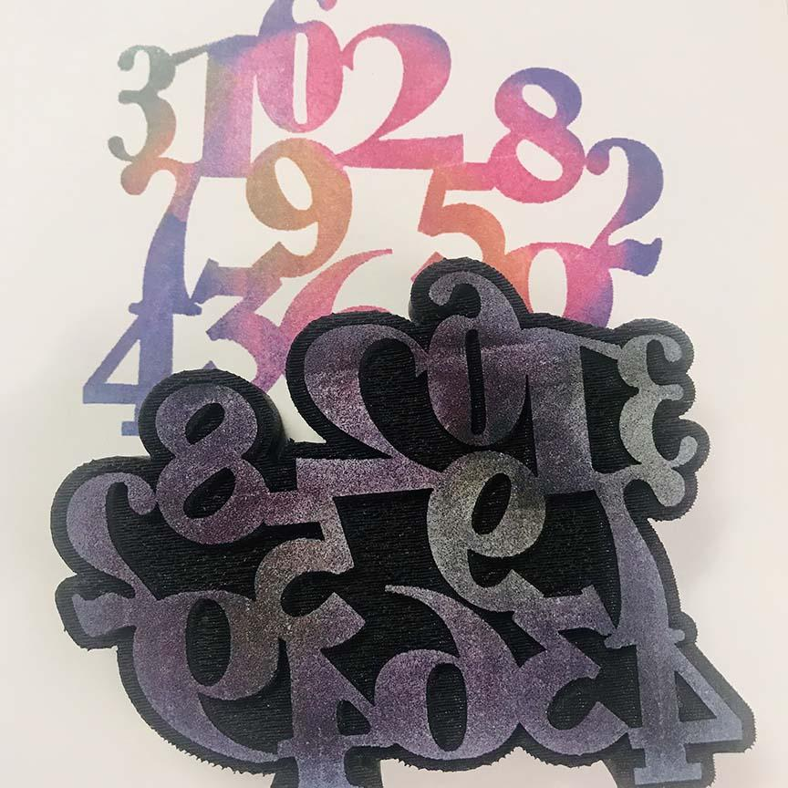 Gypsy Soul | Fragmented Numbers | Foam Stamp