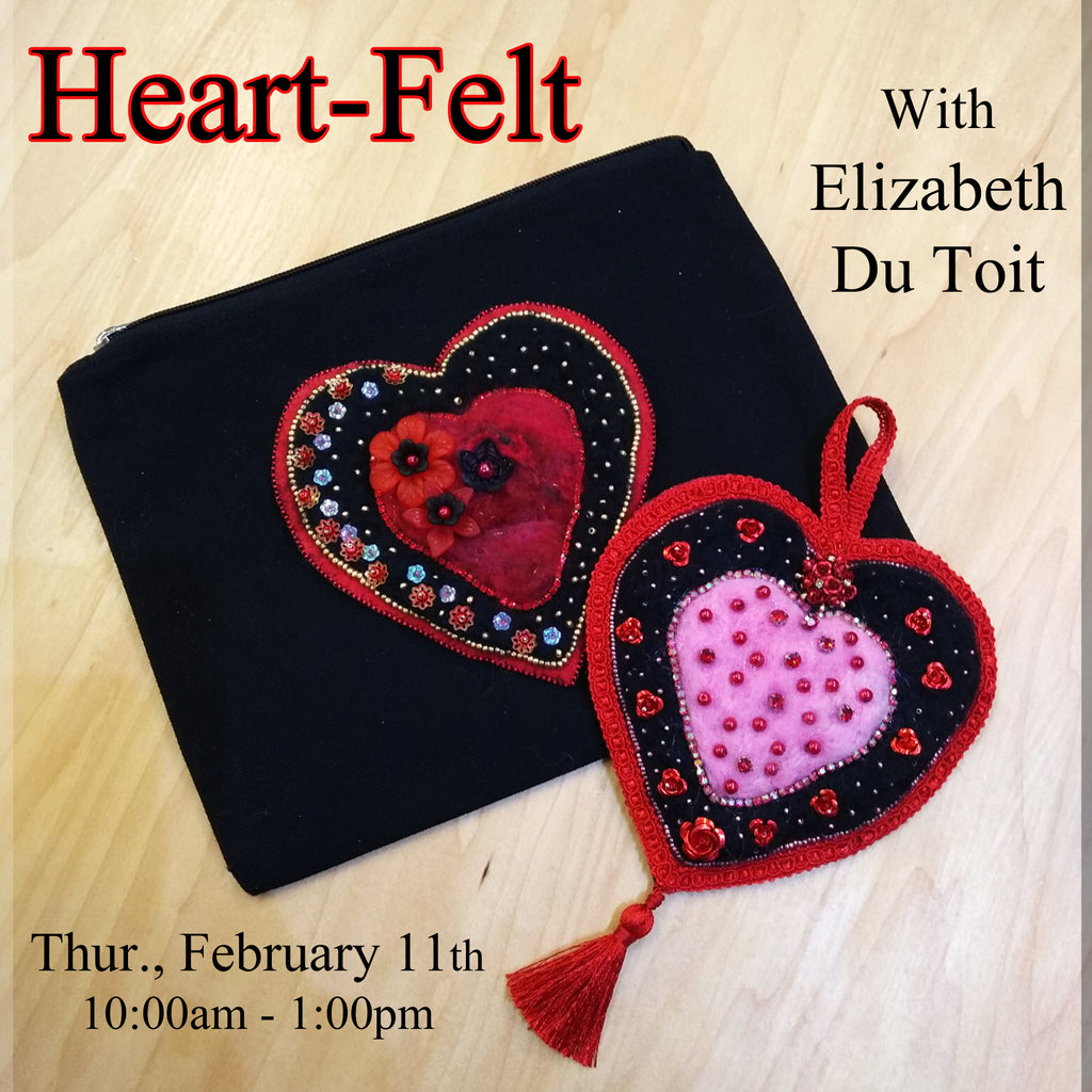 Heart-Felt with Elizabeth Du Toit - Thursday, February 11th