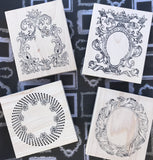 Sandra Evertson | Portals Collection | Rubber Art Stamps (Set of 4)