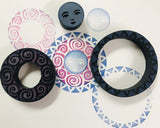 Kae Pea | Creative Concentrics - Celestial Rings | Foam Stamps - Set of 3