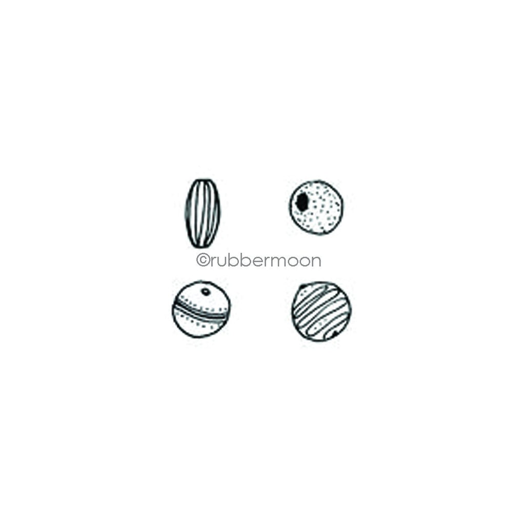 Kae Pea | KP7345G - Simple Beads Cube - Rubber Art Stamp