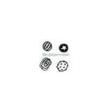 Kae Pea | KP7347G - Glass Beads Cube - Rubber Art Stamp