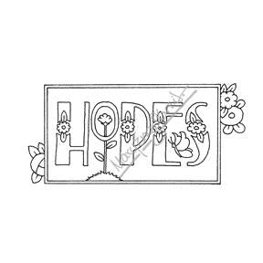 "Mary Engelbreit | ME7684G - ""Hopes"" - Rubber Art Stamp"