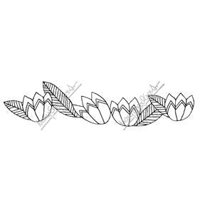 Mary Engelbreit | ME7691K - Deco Tulip Border - Rubber Art Stamp