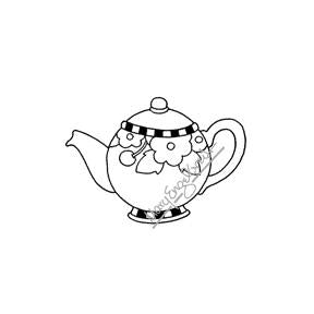 Mary Engelbreit | ME7699F - Mary's Teapot (Small) - Rubber Art Stamp