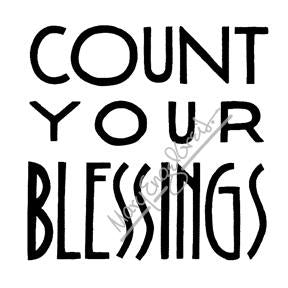 "Mary Engelbreit | ME7701H - ""Count Your Blessings"" - Rubber Art Stamp"