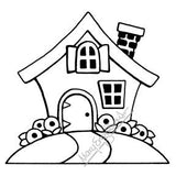 Mary Engelbreit | ME7702K - Classic Cottage (Large) - Rubber Art Stamp