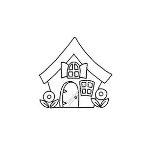 Mary Engelbreit | ME7705D - Humble Home - Rubber Art Stamp