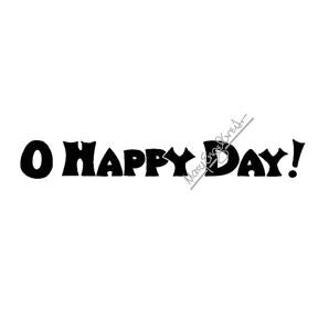 "Mary Engelbreit | ME7708G - ""O Happy Day"" - Rubber Art Stamp"