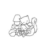 Mary Engelbreit | ME7719F - Cozy As Can Be - Rubber Art Stamp