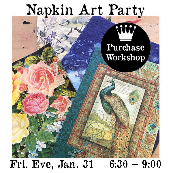 Workshop | Napkin Art Party with Terry Quinn
