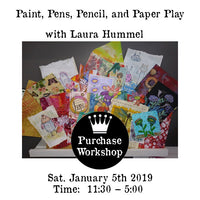 Workshop | Paint, Pens, Pencil, and Paper Play with Laura Hummel