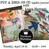 Workshop | Put A Bird On It Napkin Journal with Laura Hummel