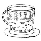 Sunny Carvalho | SC7041G - Pup Cup - Rubber Art Stamp