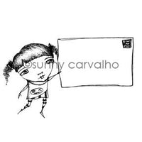 Sunny Carvalho | SC7045I - Mail Artist - Rubber Art Stamp