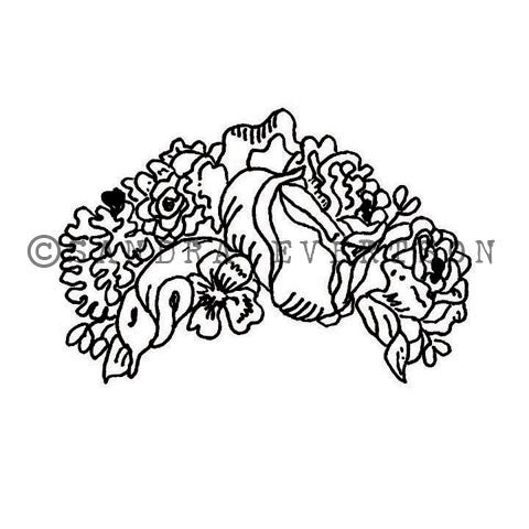 Sandra Evertson | Flores - SE6007F - Rubber Art Stamp