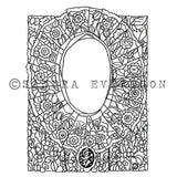 Sandra Evertson | Mantilla - SE6010K - Rubber Art Stamp