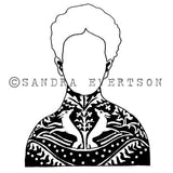 Sandra Evertson | Otomi - SE6013K - Rubber Art Stamp